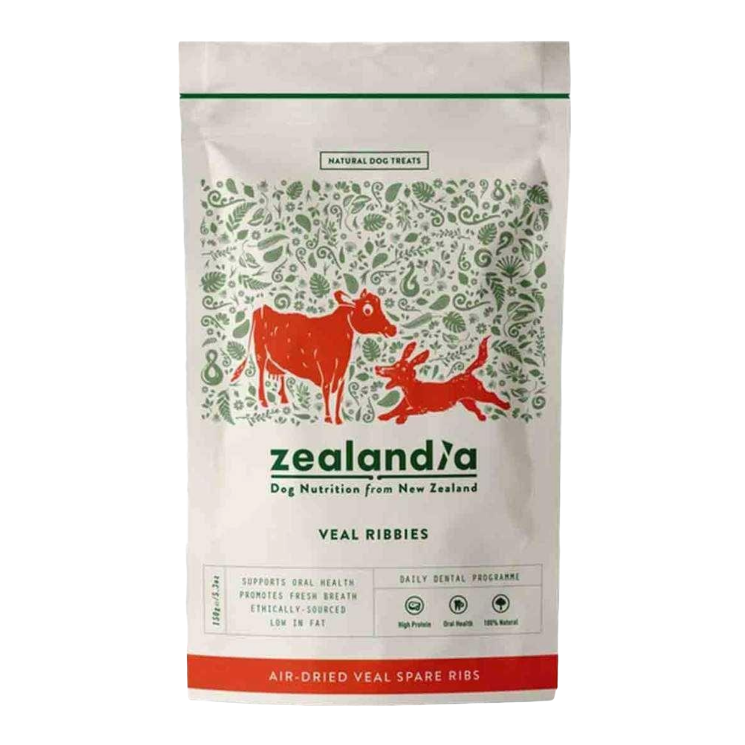 Zealandia Veal Ribbies for Dogs - 150g Pack