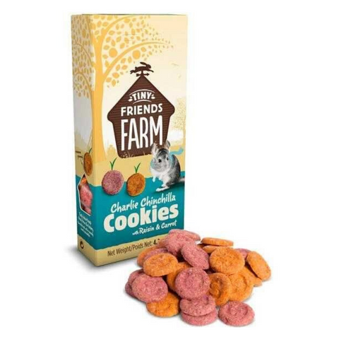 Supreme Tiny Friends Farm Treats Charlie Chinchilla Cookies with (Raisin and Carrot) - 120g