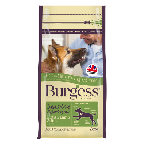 Burgess Sensitive Adult Dog (Lamb & Rice) - 2kg