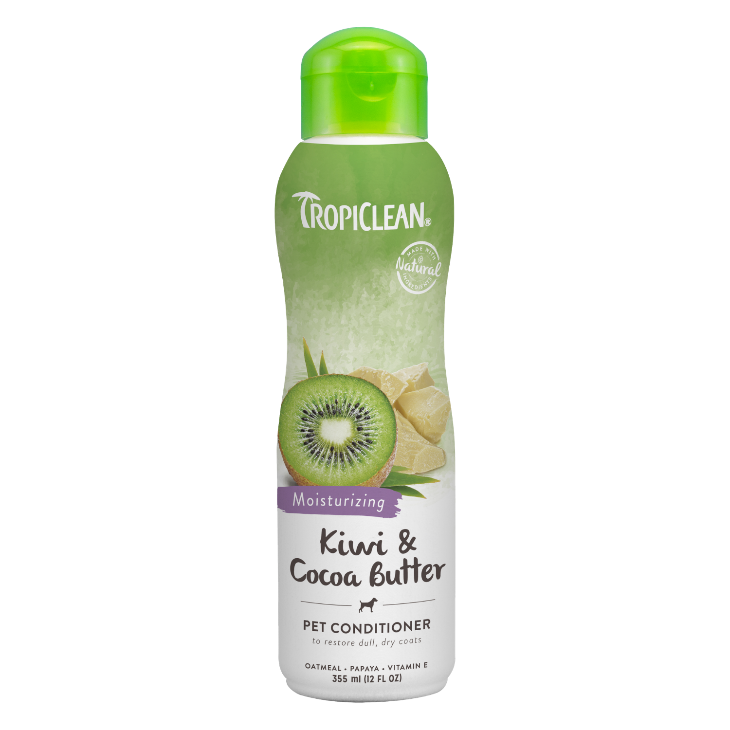 Tropiclean Kiwi & Cocoa Butter Pet Conditioner (Moisturising) - 355ml / 3.79L