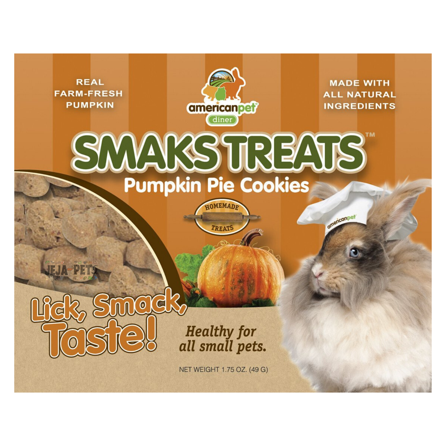 American Pet Diner Smaks Treats (Pumpkin Pie) Cookies - 49g