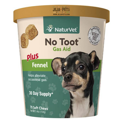 NaturVet No Toot™ Gas Aid Plus Fennel Soft Chews - 70 ct (30 day supply)