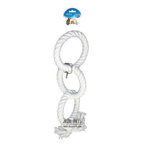 Duvo+ Plaited Cotton 3 Rings Swing - 43cm