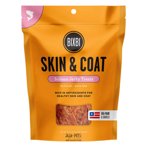 BIXBI Skin & Coat Salmon Jerky Treats for Dogs - 113g