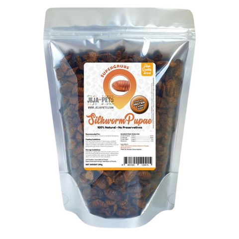 Supergrubs Dried Silkworm Pupae - 200g