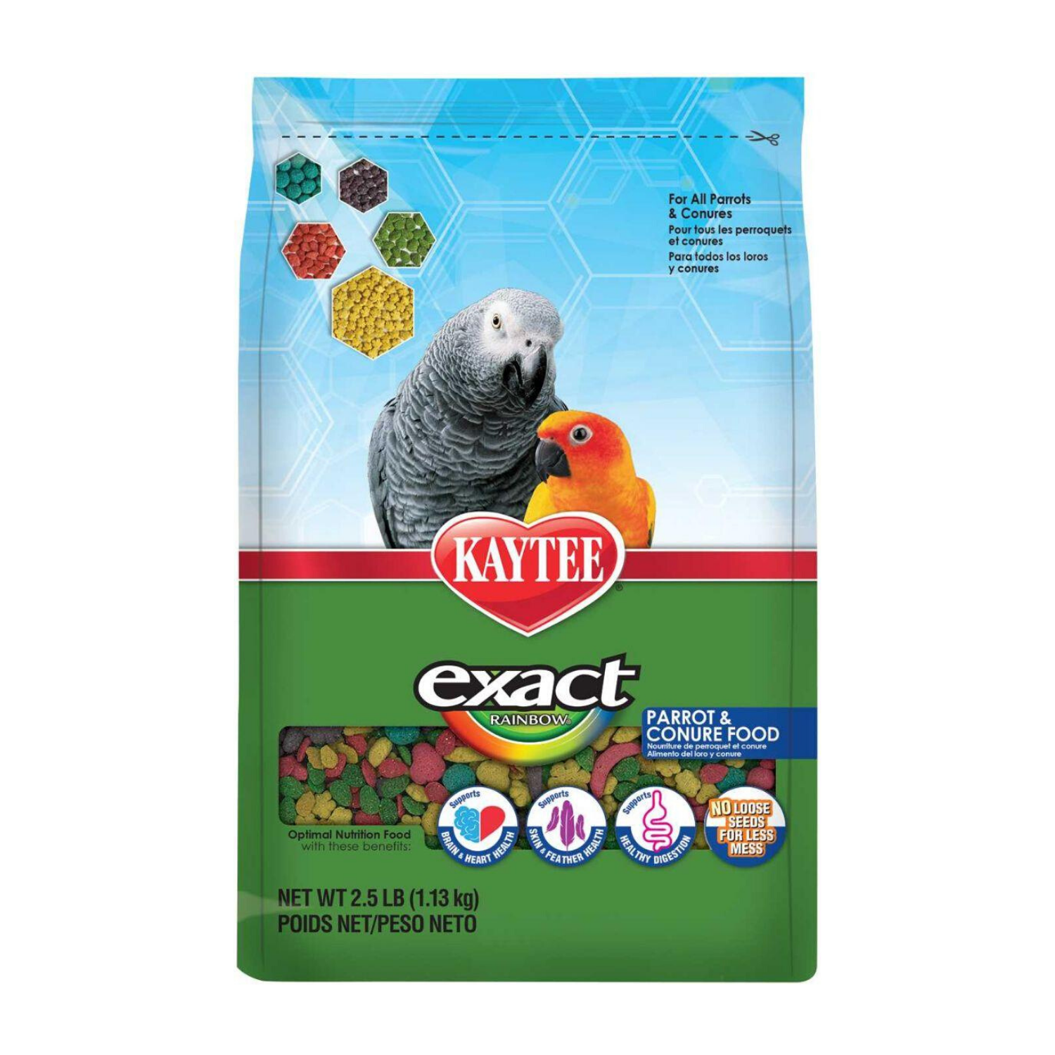 Kaytee exact Rainbow Parrot and Conure Food - 1.13kg / 1.81kg