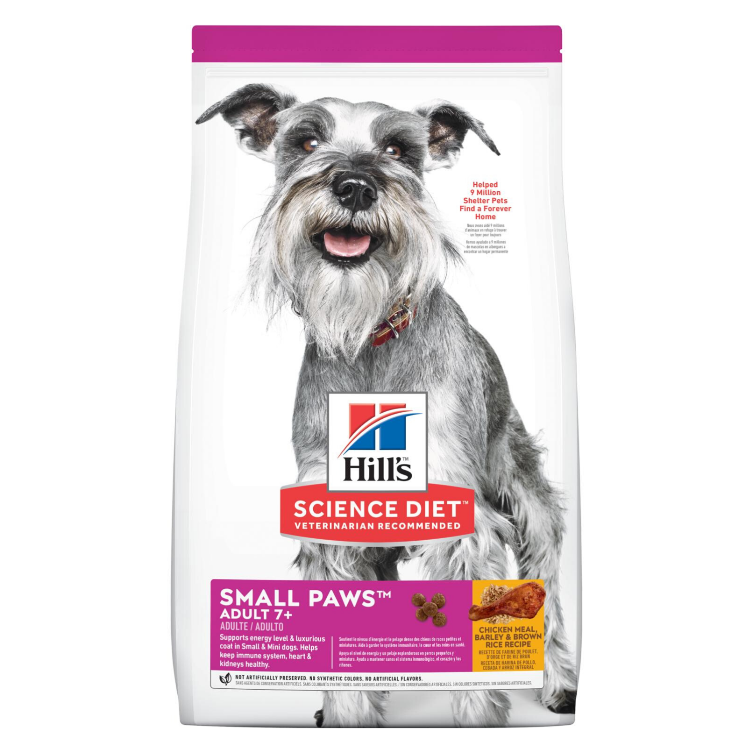 Hill's Science Diet Adult 7+ Small Paws - Chicken Meal, Barley & Brown Rice - 1.5kg / 7kg