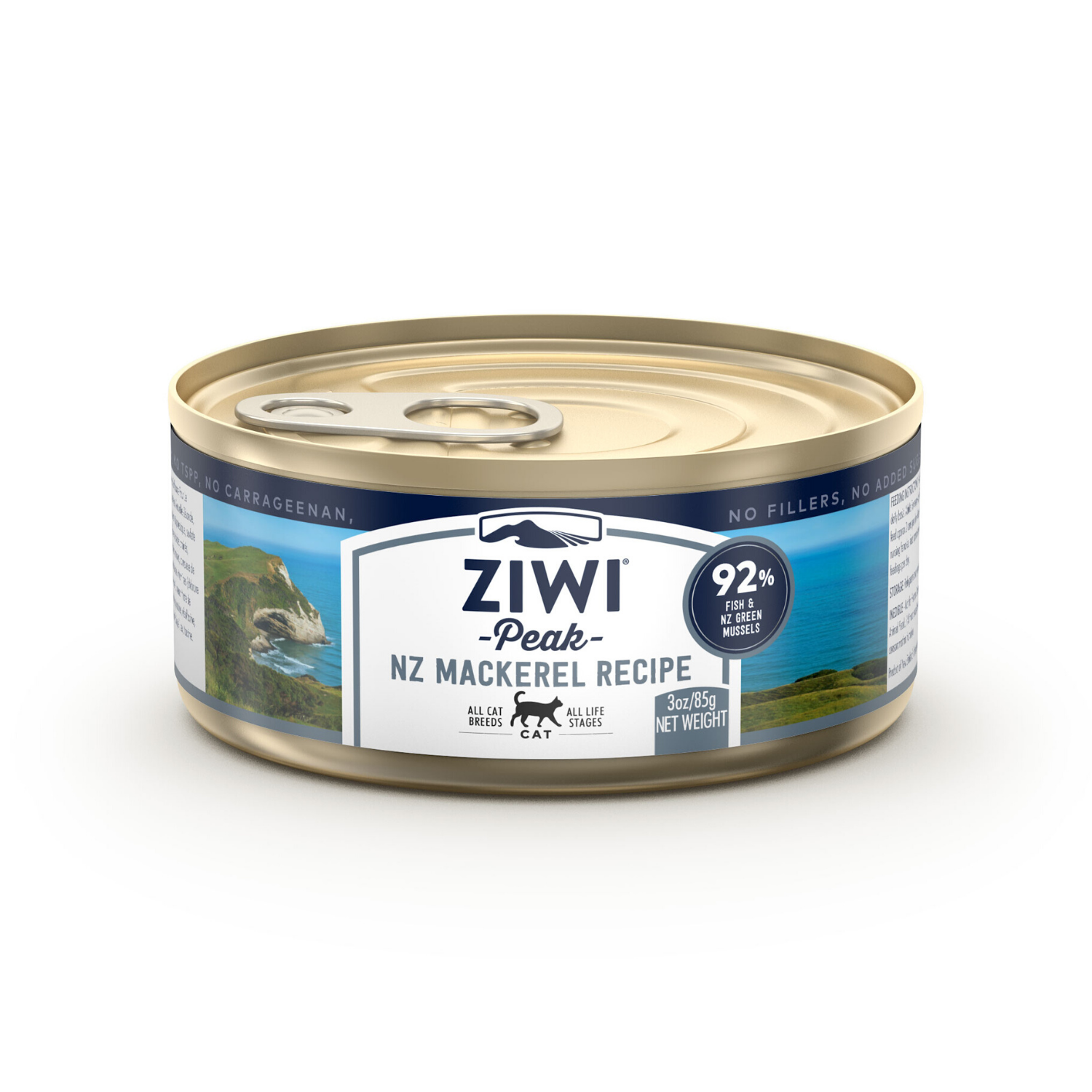 ZIWI Peak (Mackerel) Canned Cat Food - 12 Cans x 85g / 185g