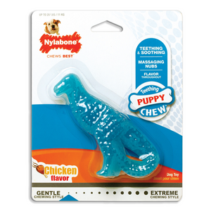 Nylabone Puppy Dental Dinosaur Chew Toy for Teething Puppies