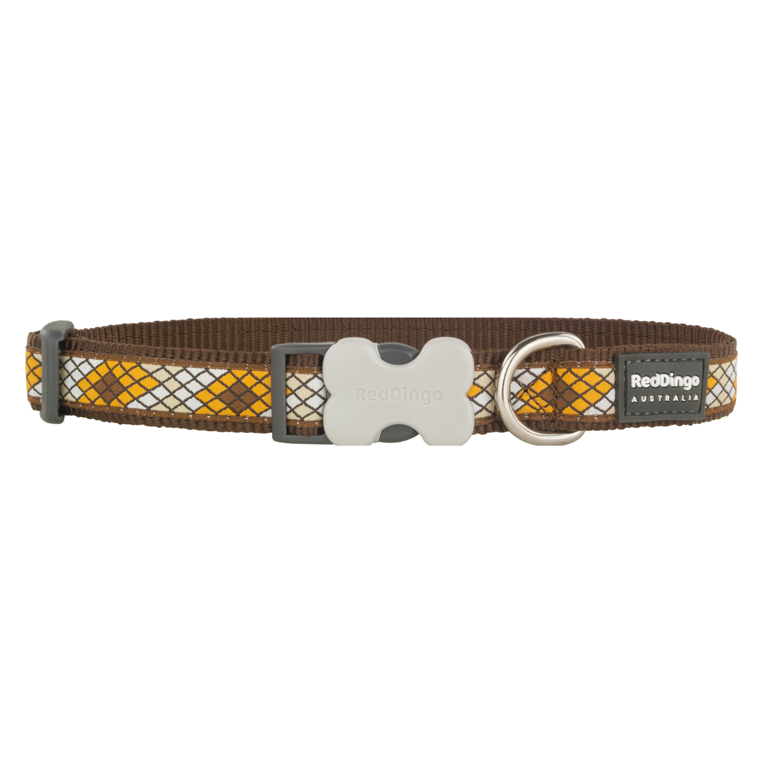 Red Dingo Bucklebone Collar - Monty Range (Monty Brown)