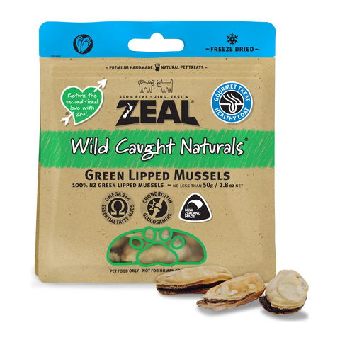 [DISCONTINUED] Zeal Wild Caught Naturals Green Lipped Mussels - 100g (BUY 2 GET 1 FREE)