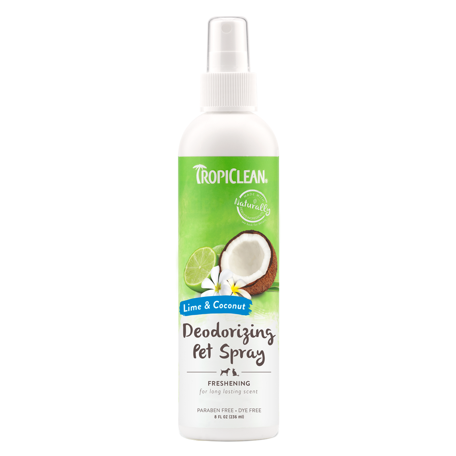Tropiclean Lime & Coconut Deodorizing Pet Spray - 236ml