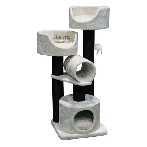Petrebels Sweet Petite Cabin 125 Cat Tree - Fuzzy Cream
