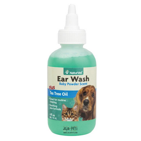 NaturVet Ear Wash with Tea Tree Oil - 118ml
