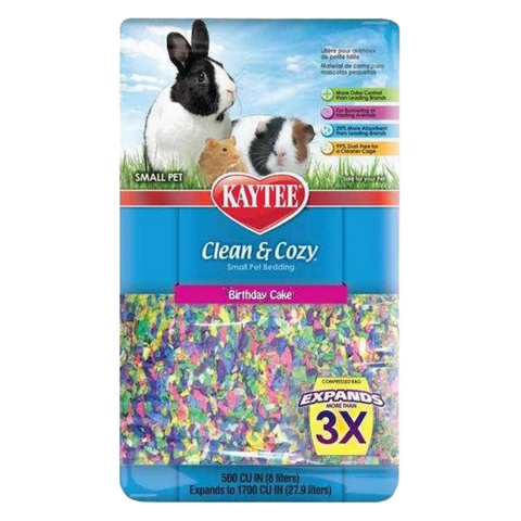 Kaytee Clean & Cozy Bedding (Birthday Cake) - 24.6L