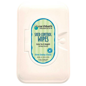 Earthbath Shed Control Wipes (72 Wipes)