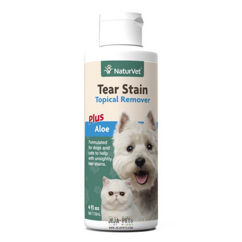 NaturVet Tear Stain Topical Remover Plus Aloe - 118ml