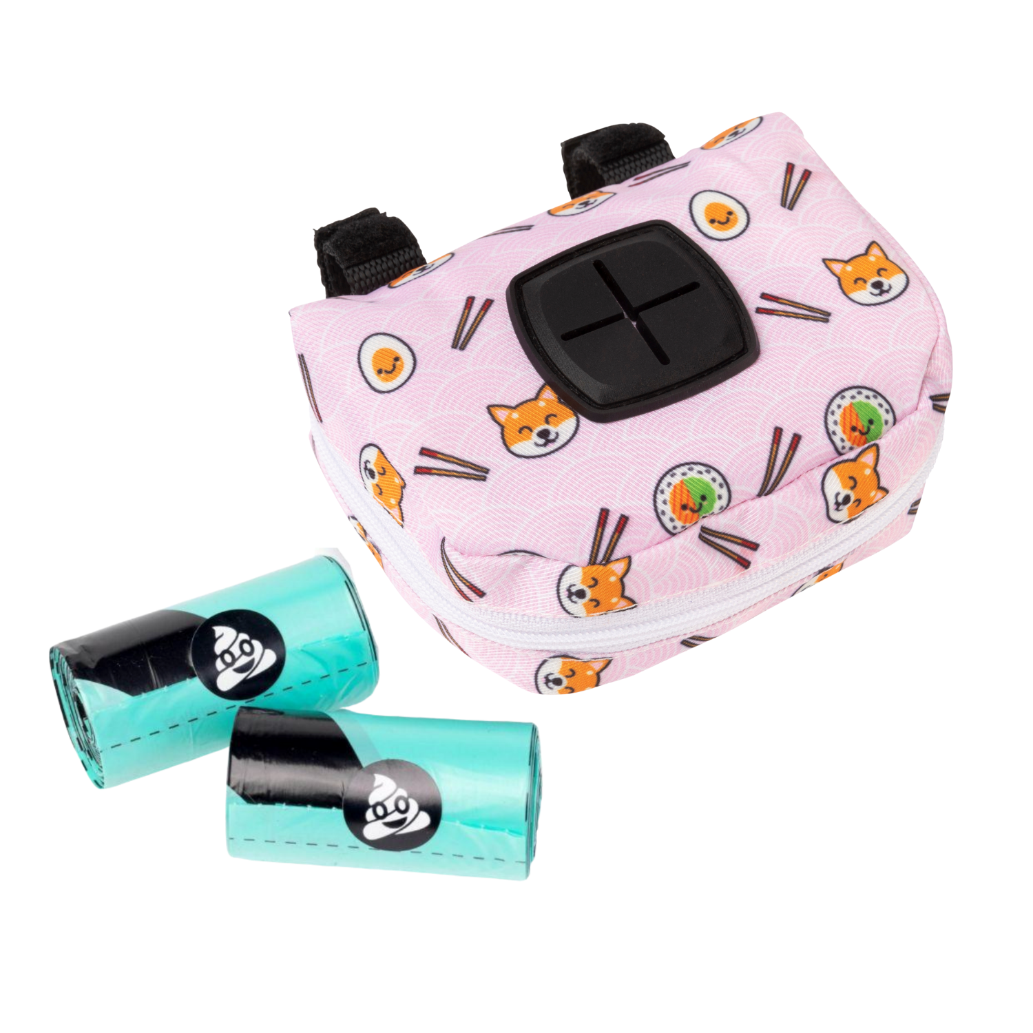 FuzzYard Poop Dispenser Bag and 2 Rolls (Sushiba)