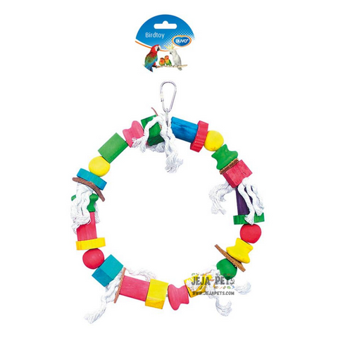 Duvo+ Rope Ring with Colorful Cubes - 30cm