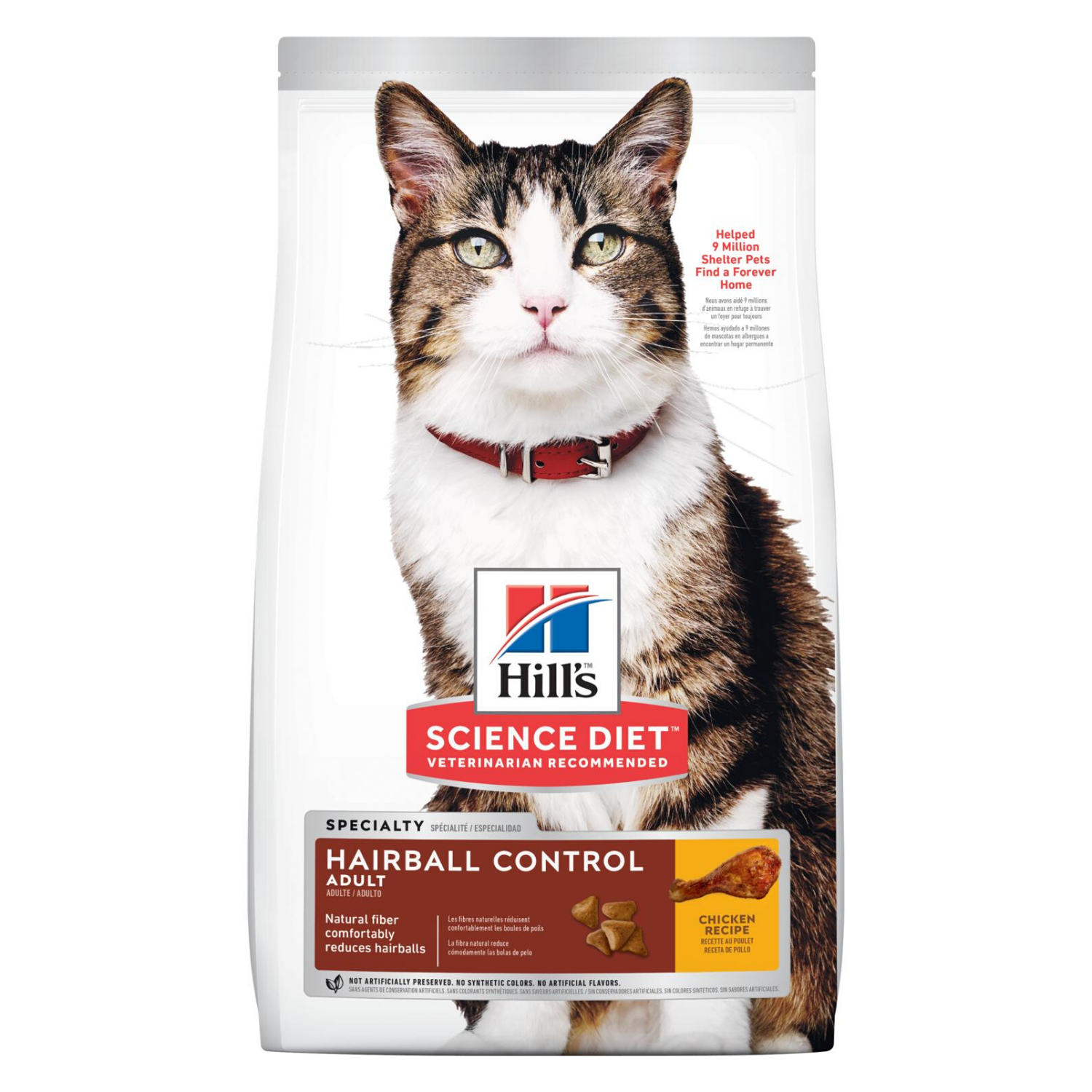 Hill's Science Diet Adult Hairball Control - 3.18kg / 4kg / 7kg