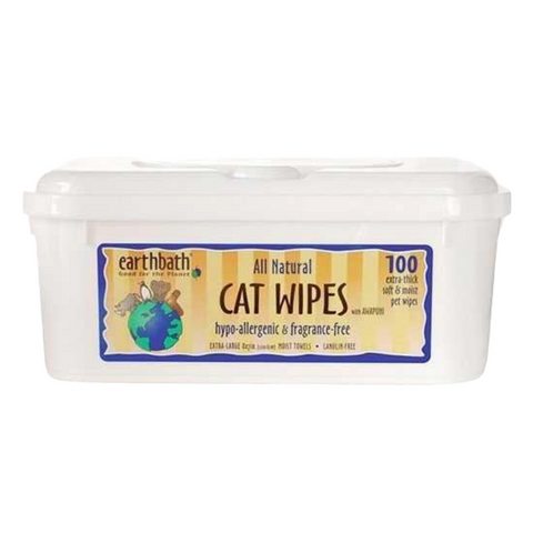 Earthbath All Natural Hypo-Allergenic Cat Wipes (Fragrance Free)