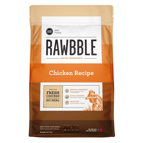 BIXBI Rawbble Chicken Dry Dog Food - 1.81kg / 10.88kg