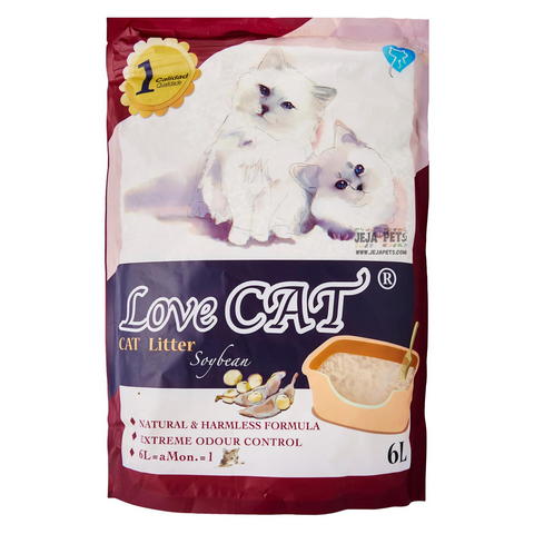 Love CAT Soybean Tofu Cat Litter - 6L