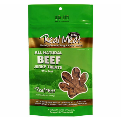Real Meat Beef Jerky Treats for Dogs - 113g