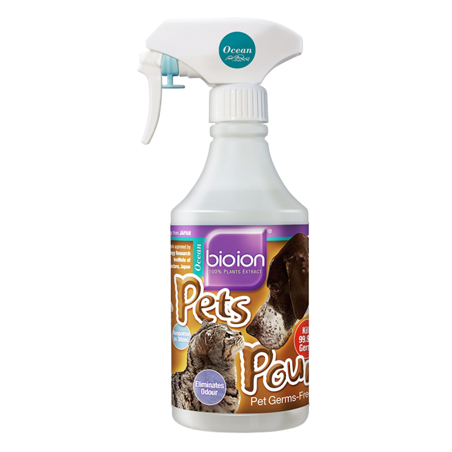 Bioion Pets Pounce Sanitizer - Ocean - 15ml / 60ml / 500ml