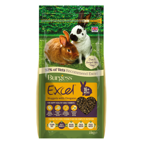 Burgess Excel Adult Rabbit Nuggets with (Oregano) - 2kg
