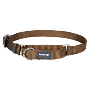 Red Dingo Martingale Half Check Collar - Classic Range (Brown)