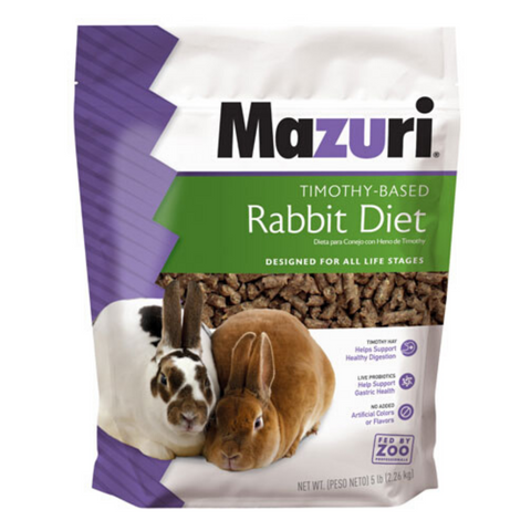Mazuri Timothy-Based Rabbit Diet - 2.27kg / 11.34kg
