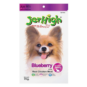 JerHigh Blueberry Stick with Real Chicken Meat Dog Snack - 70g