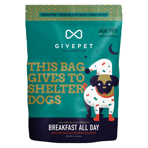 GIVEPET Breakfast All Day (Bacon, Egg & Orange) Flavor - 340g