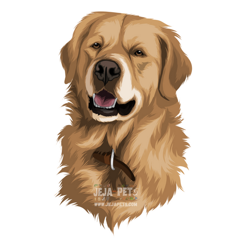 Dog (Mammals) Pet Portrait (Cartoon Illustration)