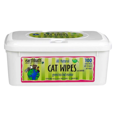 Earthbath All Natural Cat Wipes (Green Tea & Awapuhi)