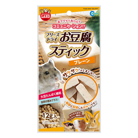 Marukan Freeze Dried Tofu Stick Plain for Small Animals - 12g