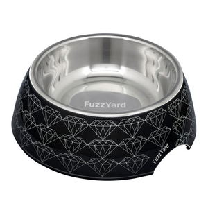 FuzzYard Easy Feeder Bowl (Black Diamond) - S / M / L