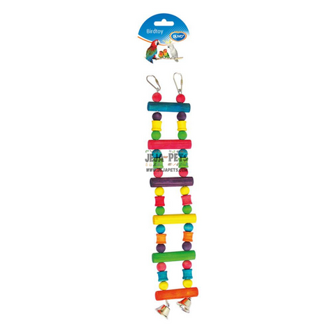 Duvo+ Colorful Wooden Ladder with Bell - 35cm