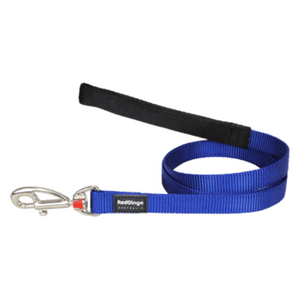 Red Dingo Fixed Dog Leads - Classic Range (Dark Blue)