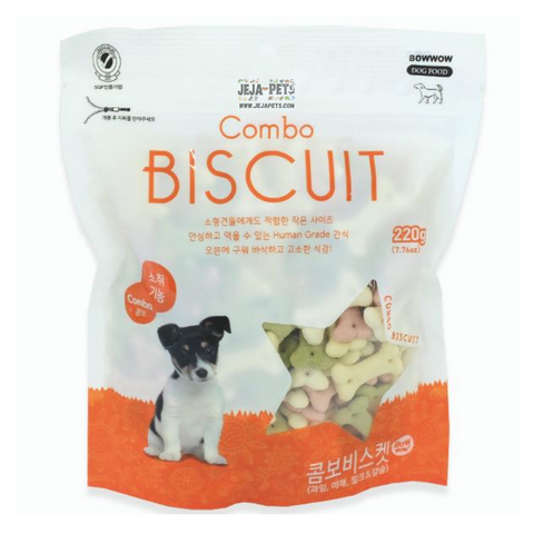 Bow Wow Combo Biscuit Dog Treats - 220g