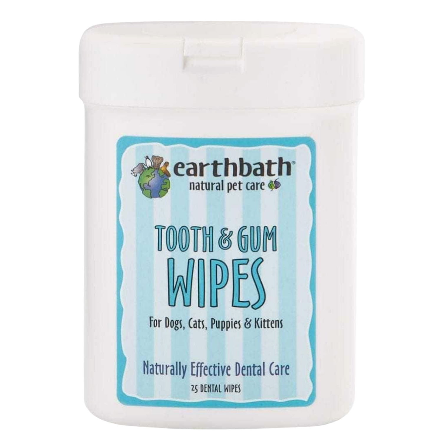 Earthbath Tooth & Gums Wipes (25 Wipes)