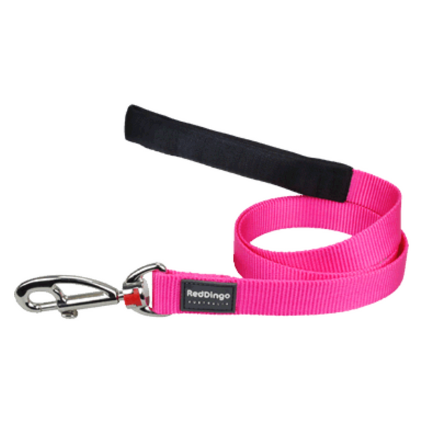 Red Dingo Fixed Dog Leads - Classic Range (Hot Pink)