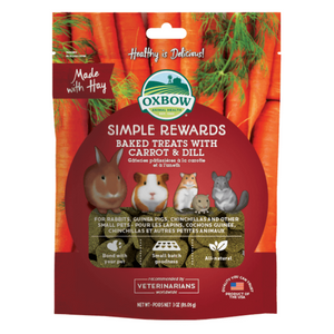 Oxbow Simple Rewards Baked Treats with (Carrot and Dill) - 85g