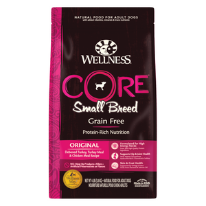 Wellness CORE Small Breed for Dogs - Original (Deboned Turkey, Turkey Meal and Chicken Meal) - 1.81kg / 5.44kg