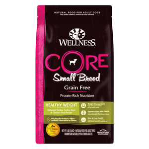 Wellness CORE Small Breed for Dogs Healthy Weight  - (Deboned Turkey, Turkey Meal and Chicken Meal) - 1.81kg / 5.44kg