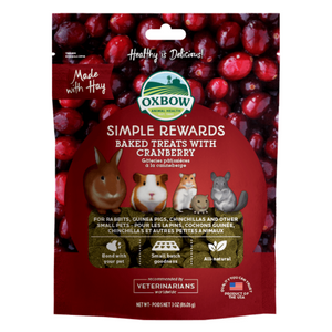 Oxbow Simple Rewards Baked Treats with (Cranberry) - 85g