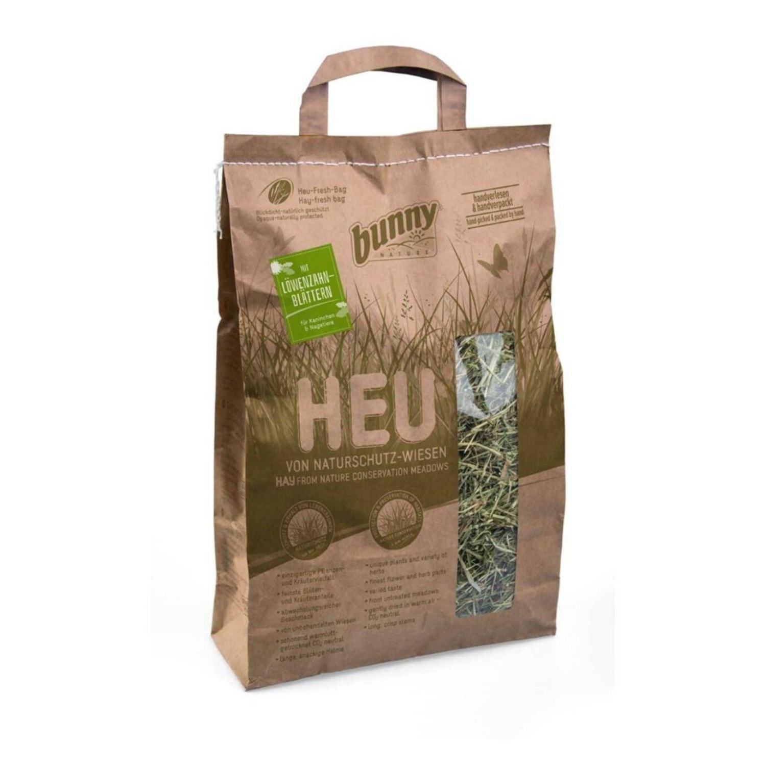 Bunny Nature Hay from Nature Conservation Meadows with Dandelion Leaves - 250g