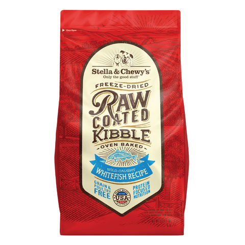 Stella & Chewy's Raw Coated Kibble (Wild-Caught Whitefish) - 1.59kg / 9.98kg
