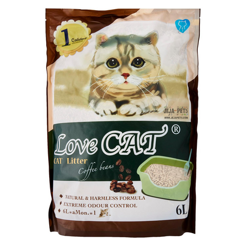 Love CAT Coffee Tofu Cat Litter - 6L
